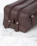 Cavour Grained Leather Grooming Bag