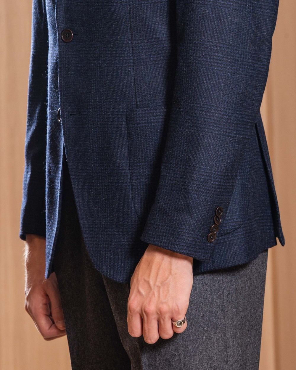 Cavour Wool cashmere checked jacket