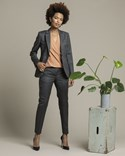 Cavour Woman Grey Herringbone Suit Jacket