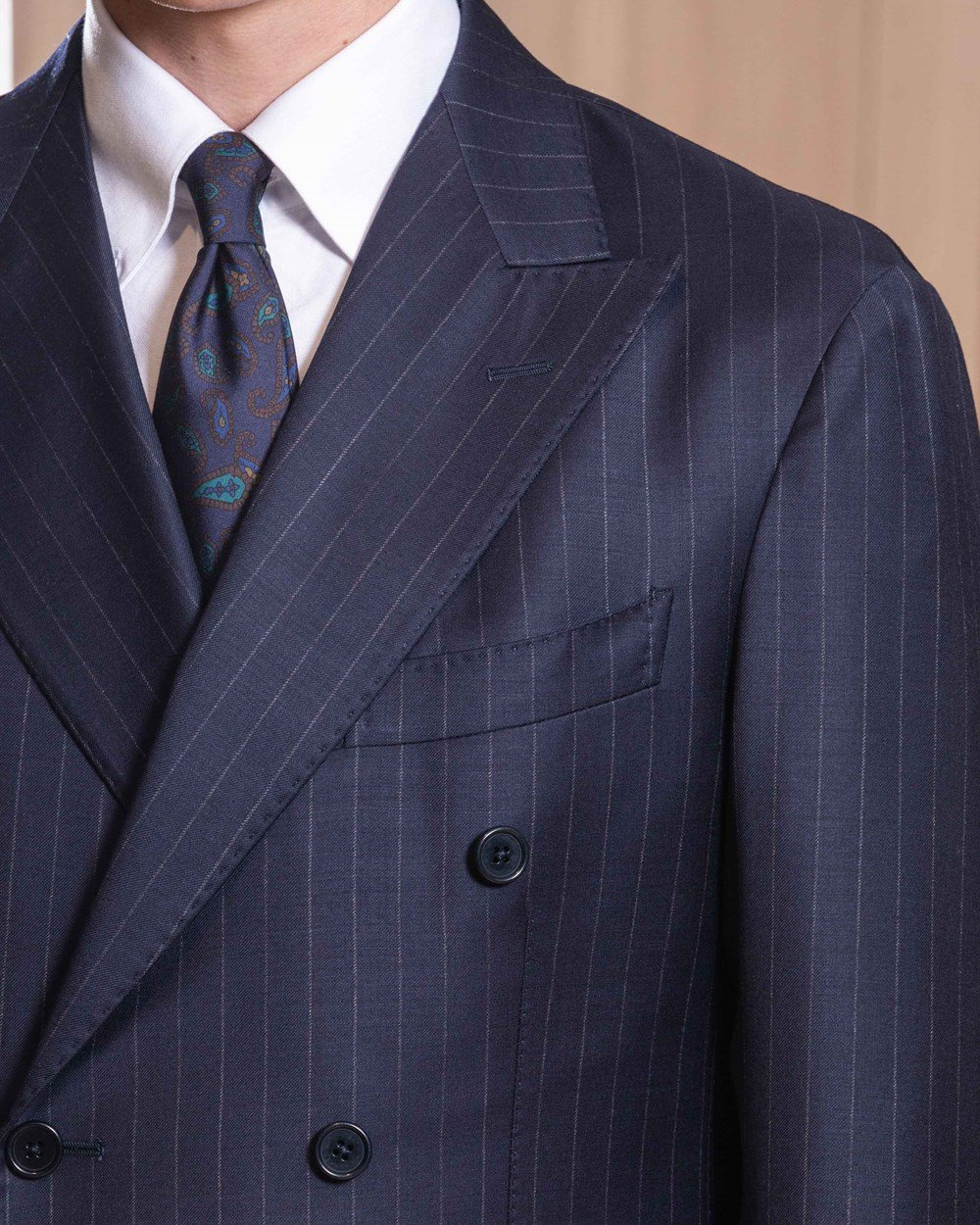 Cavour Double breasted chalk stripe