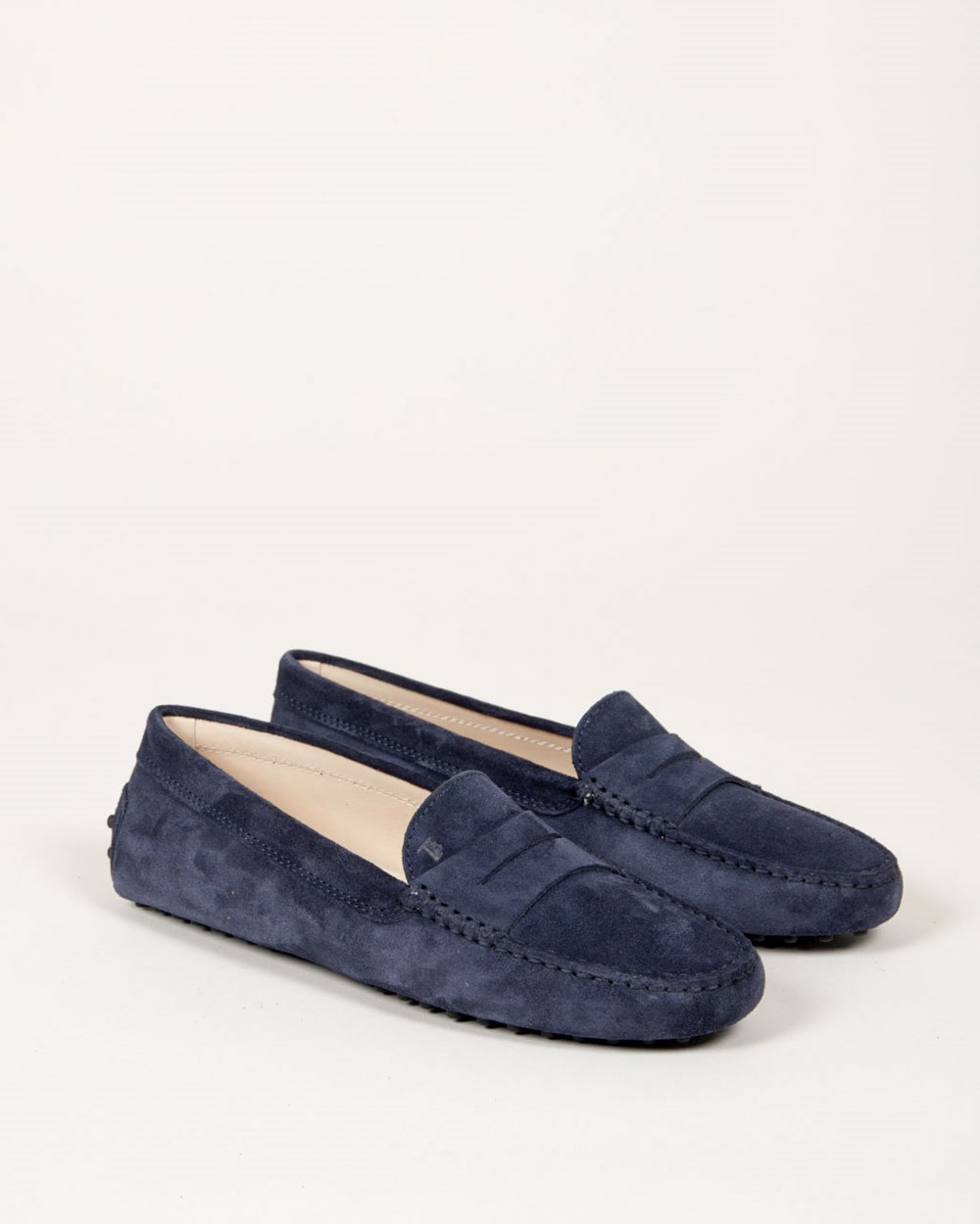 Tods Gommino Suede Navy