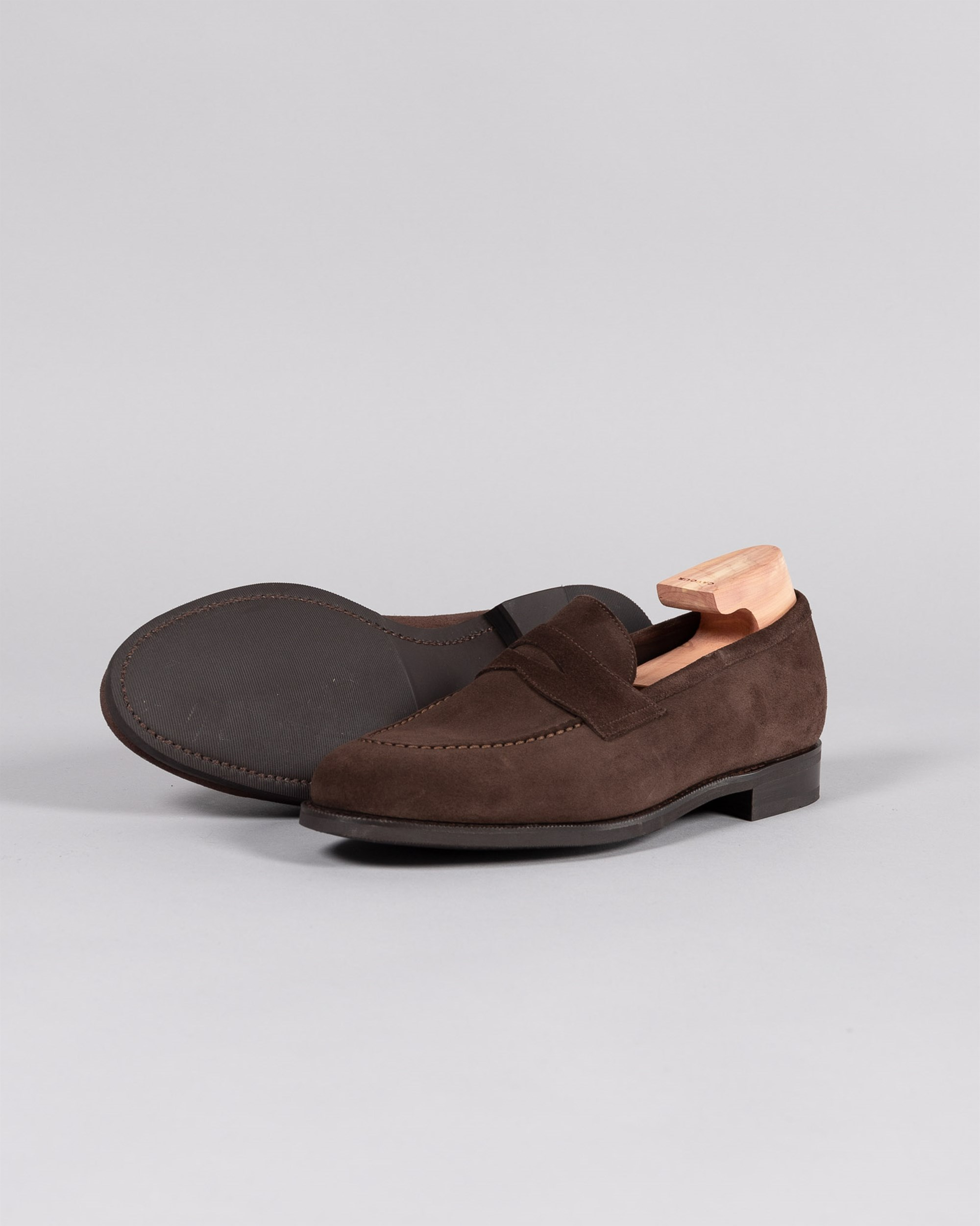 Penny Loafer Suede Rubber Sole